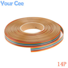 Buy 5m/lot 1.27mm Spacing Pitch 14 WAY 14 Pin Flat Color Rainbow Ribbon Cable Wiring Wire Stranded Conductor PCB DIY 14P for $5.50 in AliExpress store