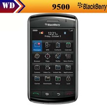 Unlocked original Blackberry 9500 storm unlocked, 3G networks,3.3inch touch screen Mobile cell phone Refurbished