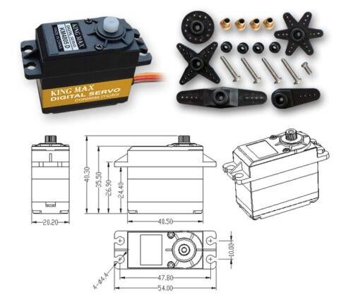 KINGMAX KM4805D Digital Plastic Gear Dual Ball Bearing Servo  For ALIGN T-Rex 550/600<br>