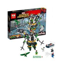 IN STOCK New LEPIN 07040 501Pcs Marvel Super Heroes Spiderman Doc Ock's Tentacle Trap Model Building Blocks Brick Toy 76059(China)