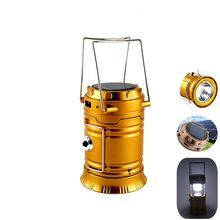 Rechargeable Solar Camping Lantern Lamp Lightweight Portable Camping Hiking Tent Light Outdoor LED Flashlight Tourist Lighting