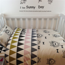 Free shipping 100% cotton  3 pcs/set crib bedding set baby bedding set include pillow case+bed sheet+duvet cover without filling