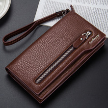 fashion men wallets day clutch card holder long  locomotive coin purse monedero hombre solid male passcard holder men wallet