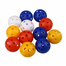 50Pcs Plastic Airflow Hollow Golf Ball Indoor Practice Training Balls Golf Accessories Golf Practice Balls(China)