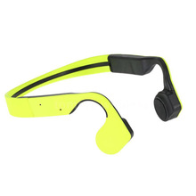 Wireless Bluetooth Bone Conduction Stereo Headset Waterproof with Mic Headphone Color:Green