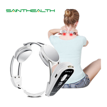 Wireless body Health care Infrared Heating Neck Massager electric Relax cervical treatment acupuncture stimulator therapy device(China)