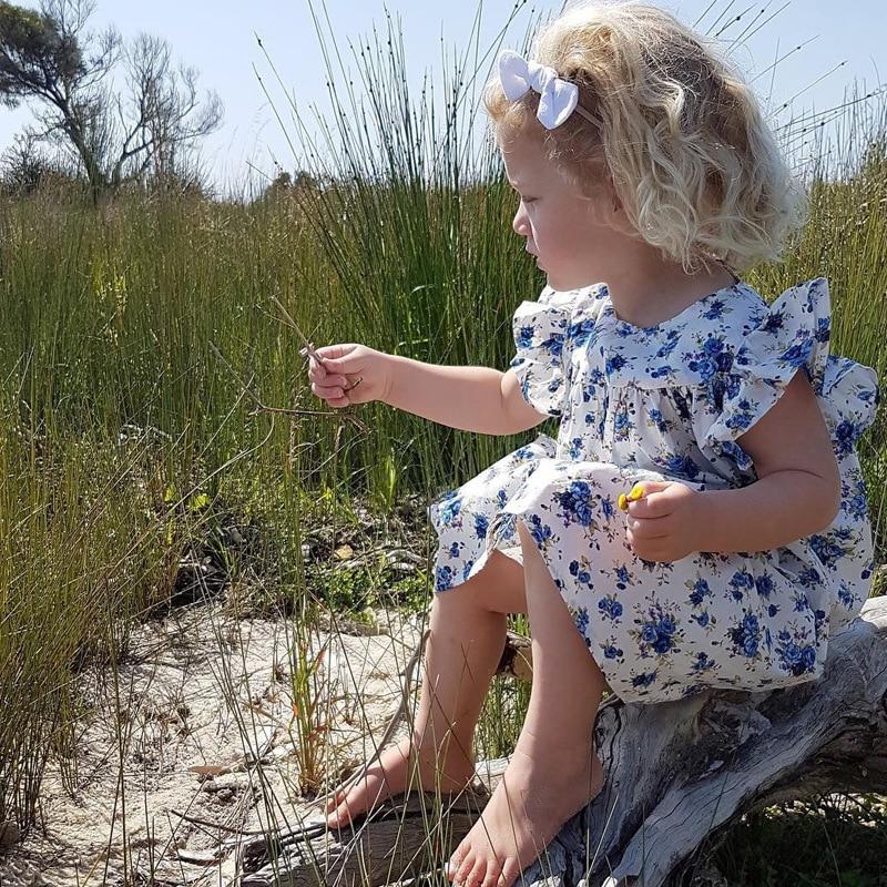 Mother nest 2018 Summer New Girls Flower Puff Sleeves Dress Cotton Children Kids Clothes Toddler Baby Birthday Kids Dresses (25)