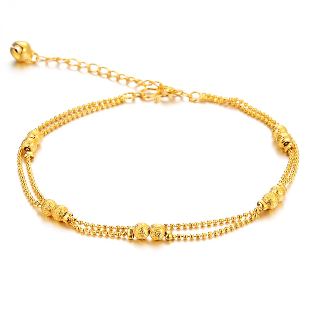 Wholesale New Fashion Creative Jewelry Copper Plated Gold Anklets Design  Novel Beautifullypact For Women