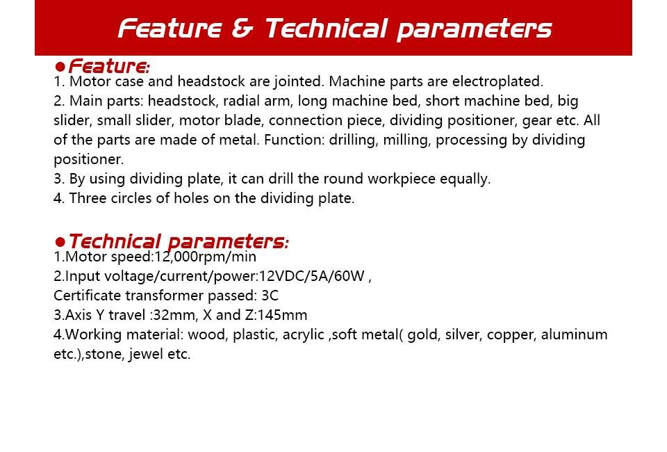 TZ10002M DIY BigPower Mini Meta Six-Shafts Drilling and Milling, 60W 12000r/min Motor, Standardized children education,BEST Gift