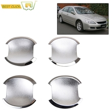 ACCESSORIES FIT FOR HONDA ACCORD 2003 2004 2005 2006 2007 CHROME DOOR HANDLE BOWL CUP CAVITY INSERT CAVITY TRIM(China)