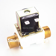 "Aliexpress hot sale 2 PCS Free shipping Solenoid valve 1/2"" 12V 220V 24V Electronic valve filter Copper joints High quality PP ,(China)"