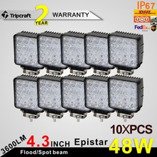 HOTSALE !! 10pcs 48w 3600lm led work light square design hot sale very cheap in the ALI!!!!CAR PARTS !!!!CAR ACCESSORIES!!!(China)