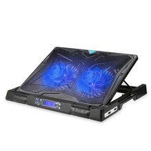 TeckNet Gaming Laptop Notebook Cooling Pad with Dual 160mm Speed Adjustable Fans LCD Temperature Display Laptop Cooler up to 17""
