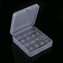 1PCS Durable Transparent Plastic Battery Case Holder Mini Storage Box for 4pcs 18650 Batteries(China)