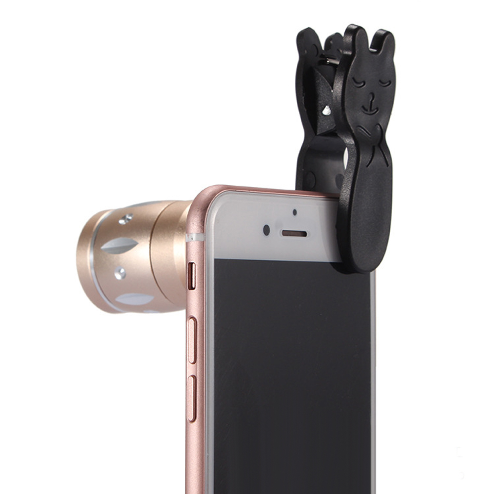 JRGK Universal 10X Camera Telephoto Lens mobile Phone Telescope with Rabbit Clip 4 in 1 Wide Angle Macro Mobile Phone Len 7
