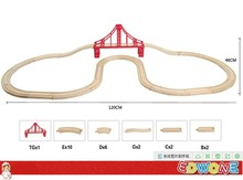 Thomas and His Friends -1Set 23PCS Large Size Thomas Train Wooden Track Railway Loops Bridge Track For Thomas Biro Train