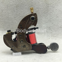 Damascus Steel Tattoo Machine Gun For Liner Shader 10 Wrap Coil 28mm Height Supply DSM-C04#(China)