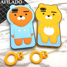 Buy Fashion Cartoon Bear Soft Rubber Coque Cover IPhone 7 Case 7 plus Silicone 3D Funny Cute Phone Shell Capa Bags Ring for $3.60 in AliExpress store
