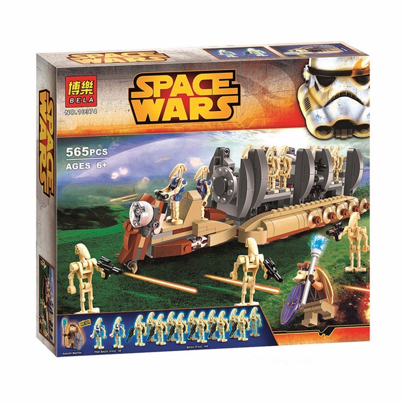 BELA 10374 565Pcs Star Wars Battle Droid Troop Carrier Spaceship Building Blocks Compatible With  Star Wars Toys Brinquedos <br><br>Aliexpress