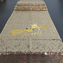 ShinyBeaty Gold Sequin Table Runner Choose Your Size!! Wholesale Gold Sequin Table Cloths Sequin Linens for Wedding/Events Decor