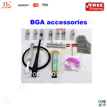 Free shipping !! for Laptop Chip, Reballing Kit,direct heating Stencils 36pcs + 15 Free Gifts (BGA solder ball+ flux+parts)