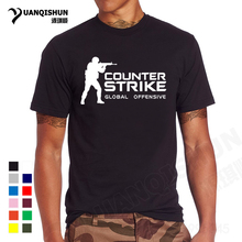 YUANQISHUN Brand Tee CS GO T Shirt Counter Strike Global Offensive CSGO TShirt Men Casual Games Team Funny T-Shirt Summer Tops(China)