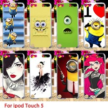 Soft TPU Cases For Apple iPod Touch 5 5th 5G touch5 Case Cartoon Minions Hard Cell Phone Cover Housings Bags Sheaths Skins Hoods