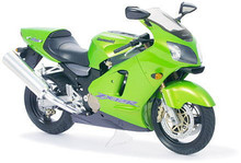 Assembling Motorcycle Static Model Kawasaki Ninja ZX - 12 R 14084(China)