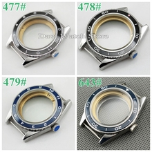 41mm Fit ETA 2836/2824 DG 2813 Miyota 82 Series Ceramic Bezel Sapphire Glass Stainless Steel Watch Case