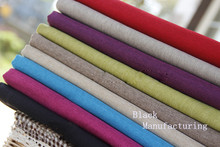 Woven polyester bag linen sofa cloth fabric / Hand made DIY upholstery fabrics / sofa cover towel car seat cover fabric material(China)