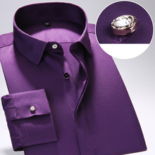 Long Sleeve Slim Fit Men Dress Shirts Classic Style High Quality Business Formal Shirt with Beautiful Buttons Asian Size S-4XL(China)