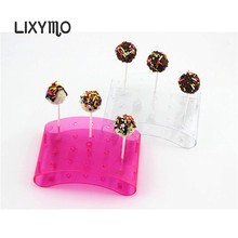LIXYMO 20 holes arc shaped Cake pop Lollipop Display /Stand/Hodler/Base/Shelf  PS material 1 pc