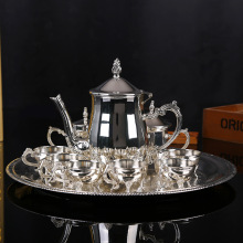 Wholesale European style zinc alloy coffee pot set of metal fashion tea set in the afternoon(China)