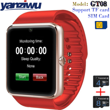 New GT08 Smart Watch Sync Notifier Support Sim TF Card Bluetooth Connectivity Apple iphone Android Phone Smart Watch PK GT88(China)