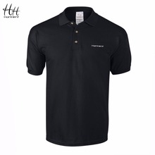 HanHent Embroidery Logo Men Polo Shirt 2017 New Casual Fit Short Sleeve 100% Cotton Business Office Mens Polo Shirts(China)