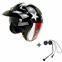 High Quality CG510-L1 Bluetooth Motorcycle Half Face Helmets Built-in BT Headset With Double Lens for Mp3/Phone Taking/GPRS