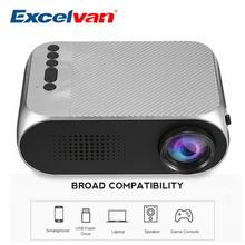 Excelvan YG320 PK YG300 LCD Proiettore Per Home Theatre Film Beamer Per 1080 p Full HD Proiettore Con Il USB HDMI AV Video di proyector(China)