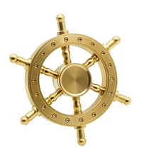 Buy Old Captain Tri-spinner Gyro Brass stable Metal Hand Spinner Gyro copper Fidget Spinner pirate hand helicopter Finger spinner for $8.88 in AliExpress store