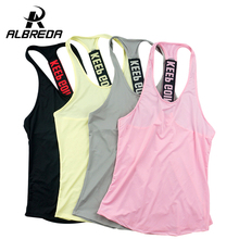 ALBREDA Women Sports Vest  professional Fitness Training Yoga  Running vest quick-drying  Tank Top clothes 4 colors