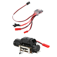 1/10 Crawler Winch+30A Brushed ESC Switch Controller for RC 1/10 JEEP Axial SCX10 AX10 Tamiya CC01 Traxxas RC Rock Crawler(China)