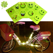 Buy Hot Sale 3pcs Funny Reflective Bicycle Sticker Smiling Face Pattern Mountain Bike Sticker Night Riding Sticker Free for $6.64 in AliExpress store