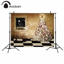 Allenjoy photography shiny Christmas tree glitter stars angel hobbyhorse black and white floor foto camera(China)