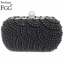 Women Synthetic Pearls Shoulder Bags Vintage Evening Banquet Dinner Beaded Bags Pearl Bridal Party Clutches For Bride Purse