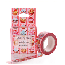 High quality Washi Tape DIY Masking Paper Tape Decorative Sticker Tape Tape School Office Supply Papelaria 15mm*10m