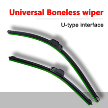 U-type wiper universal automobile windscreen wiper soft Boneless rubber wiper 14'' 16'' 17'' 18'' 19'' 20'' 21'' 22'' 24''  Inch