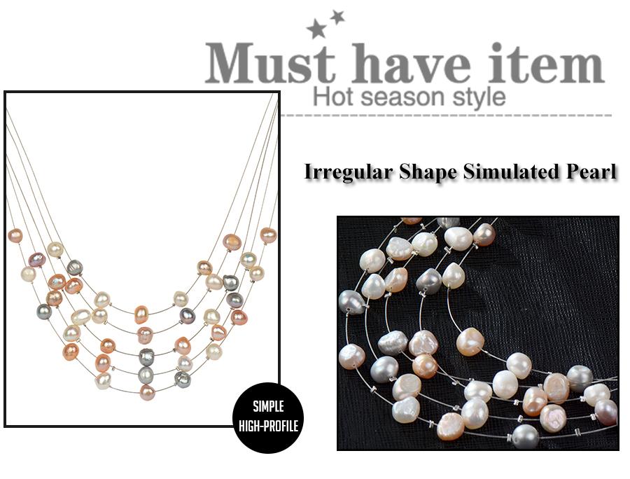 HTB1YDjWRVXXXXapaXXXq6xXFXXX2 - RAVIMOUR Simulated Pearl Jewelry Multilayer Boho Choker Necklace for Women Fashion Baroque Perlas Statement Necklaces & Pendants