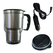 Stainless Steel Vehicle Heating Cup 12v Car Kettle Heating Electric Kettle Water Heater for Car Cordless Kettle Tea Coffee Mug