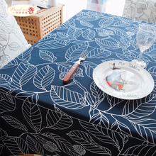 Proud Rose Rural Cotton Leaves Printed Tablecloth White Decorated Table Cloth Chair Cushion High Quality Dinner Table Cover