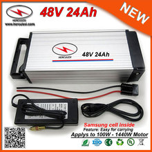 High Safety 48V 24Ah Lithium Battery / Rear rack Battery 48V 24Ah built in Samsung cell for Bafang or Golden Motor Magic Pie 5(China)