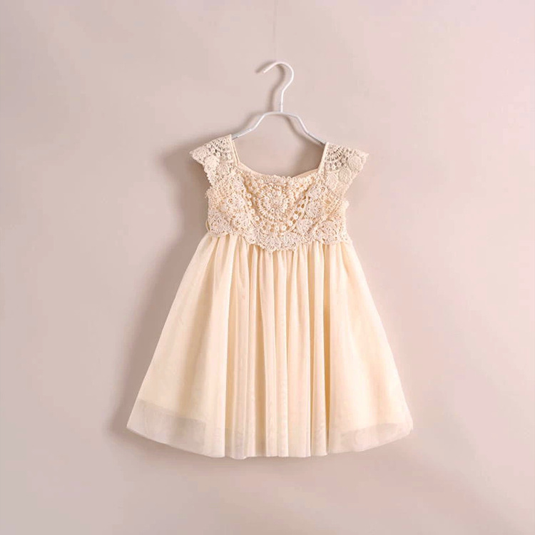 Baby girls dress with lace new casual dress children solid color, sleeveless A-line Christmas dresses<br><br>Aliexpress